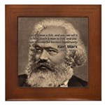 Humor in Politics: Karl Marx Framed Tile