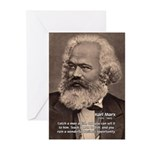 Humor in Politics: Karl Marx Greeting Cards (Packa