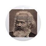 Humor in Politics: Karl Marx Ornament (Round)