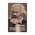 Humor in Politics: Karl Marx Mini Poster Print