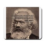 Humor in Politics: Karl Marx Mousepad