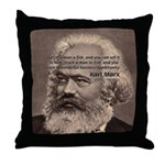 Humor in Politics: Karl Marx Throw Pillow