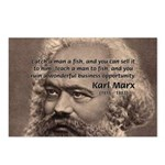 Humor in Politics: Karl Marx Postcards (Package of