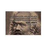 Humor in Politics: Karl Marx Rectangle Magnet