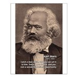 Humor in Politics: Karl Marx Small Poster