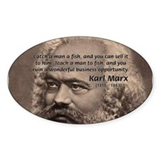 Humor in Politics: Karl Marx Oval Decal