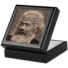 Humor in Politics: Karl Marx Keepsake Box