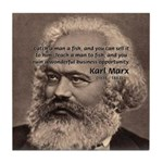 Humor in Politics: Karl Marx Tile Coaster
