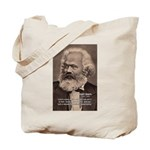 Humor in Politics: Karl Marx Tote Bag