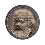 Humor in Politics: Karl Marx Wall Clock