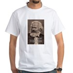 Humor in Politics: Karl Marx White T-Shirt