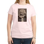 Humor in Politics: Karl Marx Women's Pink T-Shirt