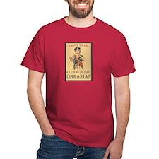 Radical Militant Librarian Black T-Shirt