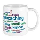 Geocaching Word Cloud Small Mugs