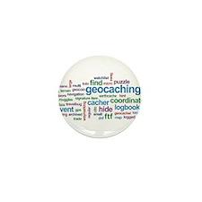 Geocaching Word Cloud Mini Button (10 pack)