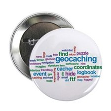 "Geocaching Word Cloud 2.25"" Button"