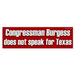 Congressman Burgess bumper sticker