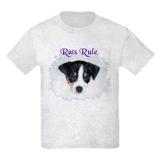 RAT TERRIER, RATS RULE Kids T-Shirt