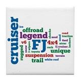 FJ Cruiser word cloud Tile Coaster