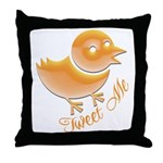 Tweet Me Throw Pillow