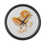 Tweet Me Large Wall Clock
