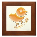 Tweet Me Framed Tile