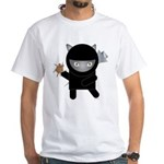 Ninja Kitty White T-Shirt