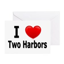 I Love Two Harbors Greeting Cards (Pk of 20)