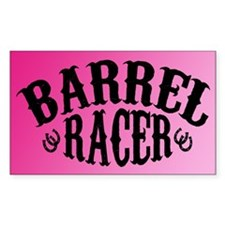 Barrel Racer (pink) Rectangle Decal
