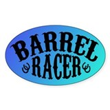 Barrel Racer (peacock) Oval Sticker (10 pk)