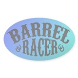 Barrel Racer (peacock) Oval Decal