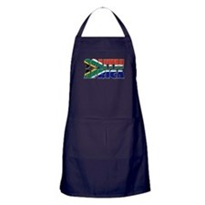 Word Art Flag South Africa Apron (dark)