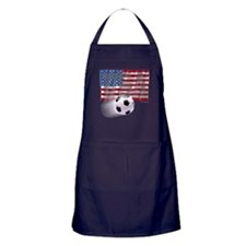 Soccer Flag USA Apron (dark)