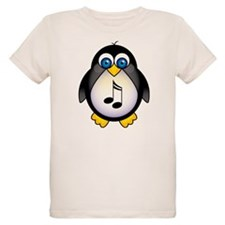 Penguin Music Lover Organic Kids T-Shirt