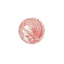 Traditional Chinese Phoenix Mini Button (100 pack)