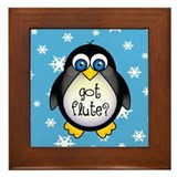 Cute Got Flute Framed Tile