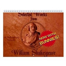 Shakespeare Bunnies Wall Calendar