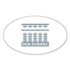 The Mighty Abacus Oval Decal
