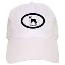Pink Boston Terrier Baseball Cap