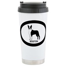 Pink Boston Terrier Ceramic Travel Mug