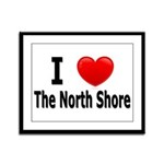 I Love The North Shore Framed Panel Print