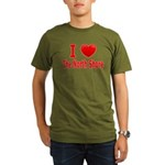 I Love The North Shore Organic Men's T-Shirt (dark