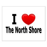 I Love The North Shore Small Poster