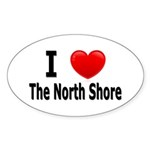 I Love The North Shore Oval Sticker (50 pk)