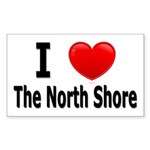 I Love The North Shore Rectangle Sticker