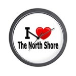 I Love The North Shore Wall Clock