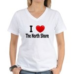 I Love The North Shore Women's V-Neck T-Shirt