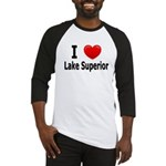 I Love Lake Superior Baseball Jersey