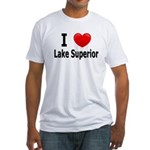 I Love Lake Superior Fitted T-Shirt