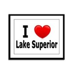 I Love Lake Superior Framed Panel Print
